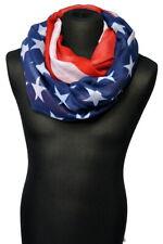 Damen Schal und Loop Rundschal Loopschal in USA Stars & Stripes Flaggen Muster