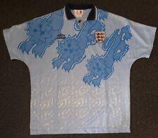 Casi nuevo y sin usar vintage Umbro Inglaterra 1992 3 Leones tercera camiseta de fútbol-XL