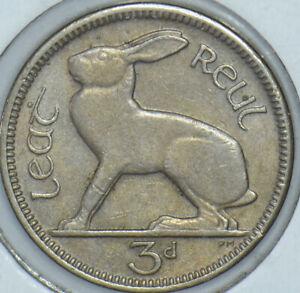 Ireland 1942 3 Pence Hare animal 191371 combine shipping
