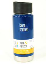 Klean Kanteen Wide Mouth 16 oz. Insulated Bottle with Cafe Cap 2.0, Blue
