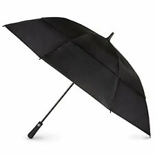 New Totes Blue Line Auto Golf Vented Canopy Stick Umbrella Black One Size