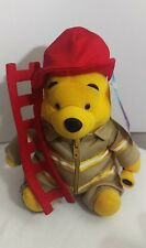"Disney 18cm 7"" Winnie the Pooh Fireman Ladder and Hose Collection B03"