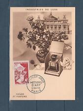 carte 1er jour  métiers d' art  fleurs et parfums  75 Paris 1954