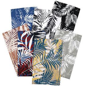 Palm Leaf Prints 100% Cotton Fabric Fat Quarters Bundle Sheets By The Metre