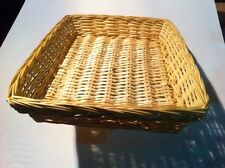 Large Produce display Basket Willow Trays Bread Trays - Natural case pack 3