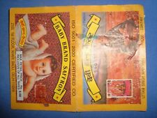 Old Vintage Baby Brand Saffron Paper Label from India  1970