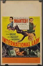 INTERNATIONAL LADY 1941 ORIGINAL 14X22 WC MOVIE POSTER GEORGE BRENT ILONA MASSEY