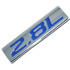 CHROME/BLUE METAL 2.8L ENGINE RACE MOTOR SWAP EMBLEM BADGE FOR TRUNK HOOD DOOR