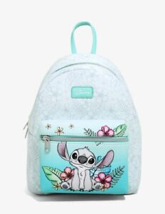Loungefly Disney Lilo & Stitch Hibiscus Sketch Mini Backpack - New