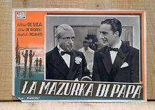 LA MAZURKA DI PAPA' fotobusta poster Vittorio De Sica Umberto Melnati 1938 I42