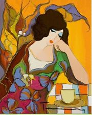 "Art Quality Canvas Print, Itzchak Tarkay oil painting c91 Lovely Maria 12x8"""