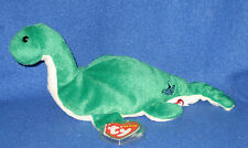 TY NESS-E the LOCH NESS MONSTER BEANIE BABY with EMBLEM - UK EXCLUSIVE MINT TAGS