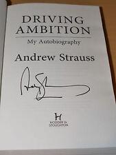 """Andrew Strauss Firmado Autobiografía de conducción ambición """" - Cricket-Foto prueba"""