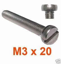 M3 x 20 Stainless Cheese Head Machine Screws 3mm x 20mm Slotted Cheese Head x20