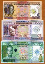 SET Guinea, 1000;5000;10000, 2010, UNC > Commemorative