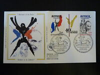 FRANCE PREMIER JOUR FDC YVERT 2369A  RETOUR PAIX ET LIBERTE  2+3F PARIS  1985