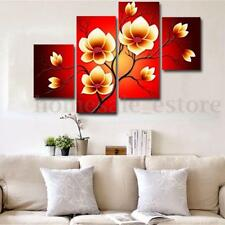 4PCS Modern Abstract Flowers Huge Wall Decor Art Oil Painting On Canvas No Frame