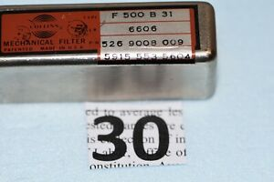 COLLINS radio MECHANICAL FILTER TYPE  F 500 B 31 P/N 526-9008-009