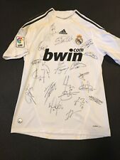 2009 Real Madrid Team Signed Authentic Adidas Jersey Ronaldo Autograph
