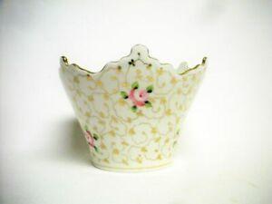Vintage Vista Alegre Hand Painted Porcelain Cachepot Vase Mint Portugal Ceramic