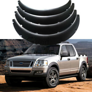 """For Ford Explorer Sport Trac Car Fender Flares 4.5"""" Wide Body Kit Wheel Arches 4"""