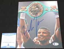 Badou Jack signed 8 x 10, WBA, WBC, Beckett BAS C22095