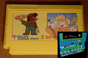 Mario Mary Pizza Pop: Pegasus Famicom Famiclone Dendy NES cartridge