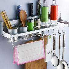 Stainless-Steel-Kitchen-Wall-Organizer Storage-Spice-Rack Utensil Hanging Tools