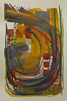 Kadi Love Keener Art Small ORIGINAL Mixed Media Gouache Abstract ~NOT A PRINT~