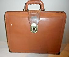 Vintage Flitecrest CowHide Leather Attache Briefcase w Key Made in USA Luggage