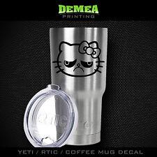 "Hello Kitty - Sad - 3"" DECAL/STICKER for Yeti/Rtic//Tumbler/Coffee/Wine"