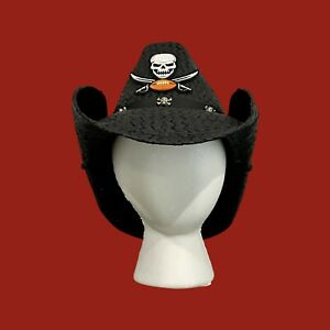 Tampa Bay Buccaneers Custom Handcrafted Cowboy Hat with Patch And Skull Hatband.
