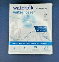 Waterpik Waterflosser Portable Electric Nano Plus WP-320 Travel Ready White