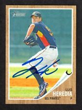 2011 HERITAGE #18  Luis Heredia  PIRATES  SIGNED AUTOGRAPH AUTO COA