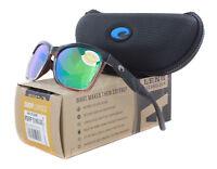 a6e8c98d8bca NEW Costa Del Mar Anaa Shiny Black On Brown Green ANA107-OGMP 580P  Sunglasses