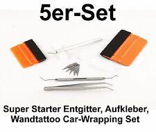 5er Entgitter-Set Start-Set Entgitternadel+Pinzette+Skalpell+2 Rakel Flex Flock