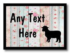 Lamb Sheep Shabby Wood Personalised Dinner Table Placemat