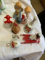 Lot of 7 Assorted Vintage Porcelain Collectible Christmas Bells