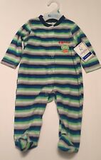 Baby Kiss Lil Monster Fleece Footed Pajamas NWT 6 Months Button Up Baby Pjs