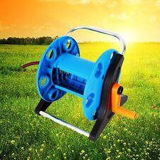 Outdoor Aluminum Garden Water Pipe Hose Reel Cart Planting Holder 30M Portable