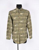 Woolrich Deer Printed Men Shirt Size M