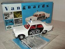 Nuevo VA04603 Ford Zephyr 6 Mk111 Vanguards Plymouth City Policía en escala 1:43.