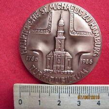 Medaille - Hauptkirche St. Michaelis zu Hamburg - Turmeröffnung 1786-1986 Sonnin