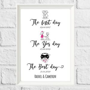 Personalised Engagement Wedding Anniversary Gifts Birthday Couples CHRISTMAS