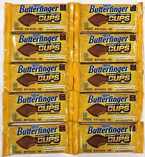 904568 10 x 42.5g PACKETS OF BUTTERFINGER PEANUT BUTTER CUPS, SMOOTH & CRUNCHY!