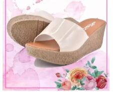 Khoee Vina Fashionable Wedge Heels Sandals (Beige)  SIZE 39
