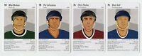 CHRIS CHELIOS, BRETT HULL, PAT LAFONTAINE, MIKE MODANO Hockey Game Cards RARE