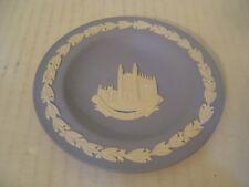 Vintage Wedgwood Blue Jasperware Round Pin Tray Plate Kings College Cambridge
