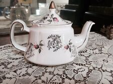 Vintage Price Kensington Tea Pot, Gold Trim & Rose's #3816, Made In England ~