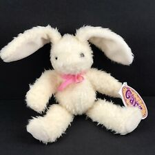 "Vintage Ganz Jelly Beans Bunny Rabbit 1998 Bean Bag Plush White Long Ears 8.75"""